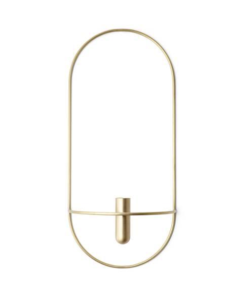 Bilde av Menu POV oval vase/candleholder, brass