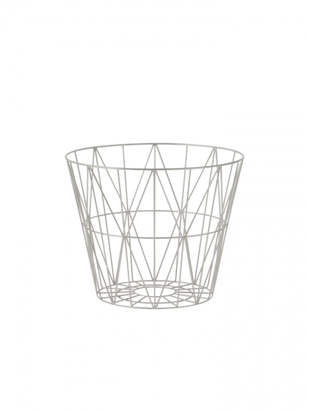 Bilde av Ferm Living Wire Basket- small light grey