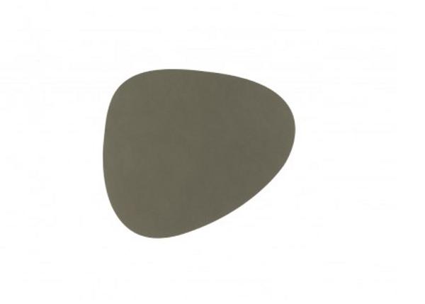 Bilde av glass mat curve 11x13cm nupo army green