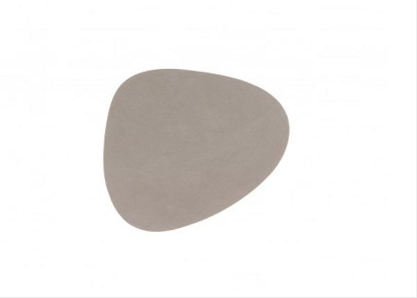 Bilde av glass mat curve 11x13cm nupo light grey