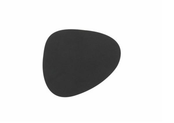 Bilde av glass mat curve 11x13cm nupo black