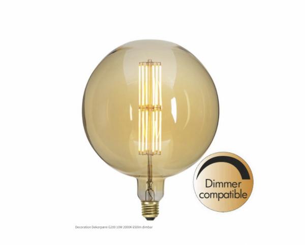 Bilde av Decoration LED G125 Vintage Gold fila E27 1800K 240lm Dim