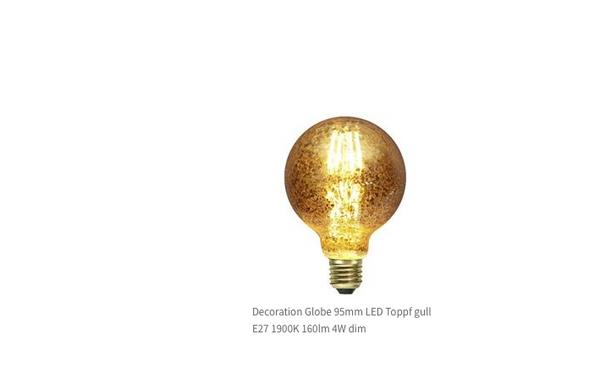 Bilde av Decoration LED G95 gullkrakelert fila E27 1900K 160lm