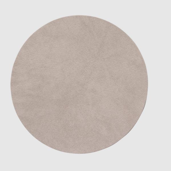 Bilde av Glass mat circle 10cm leather nupo - nomad grey