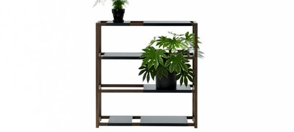 Bilde av Adea botanic shelf high brun/sort hylle