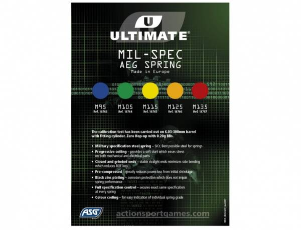 ULTIMATE MIL-SPEC SPRING M125, ORANGE