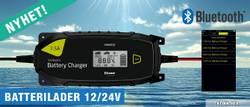 Batterilader 12v/24v 7,5A, Bluetooth - PROuser