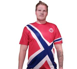 Bilde av T-skjorte Support Norway skrå