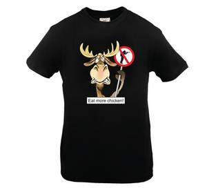 Bilde av T-skjorte Sort anti Elg-jakt