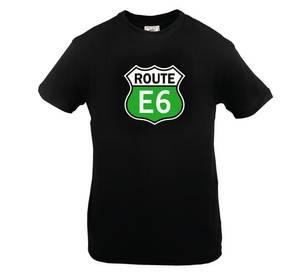 Bilde av T-skjorte Sort  Route E6