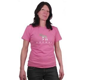 Bilde av T-skjorte Rosa med sølv elg