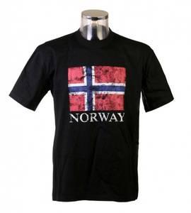 Bilde av T-skjorte Rokk Sort med flagg