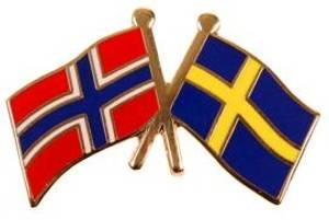 Bilde av Pins Norge-Sverige