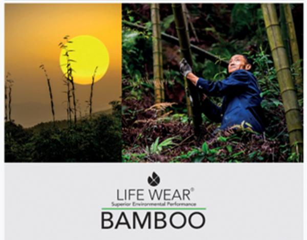 Bambus sett Herre undertøy sort