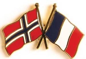 Bilde av Pins Norge-Frankrike