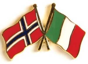 Bilde av Pins Norge-Italia