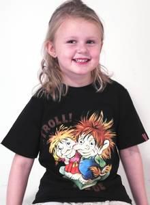 Bilde av T-skjorte barn Sort med Troll
