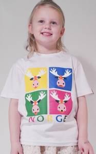Bilde av T-skjorte barn Hvit med 4 elg