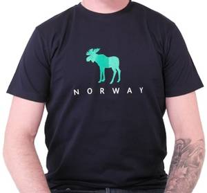 Bilde av T-skjorte marineblå m/grønn