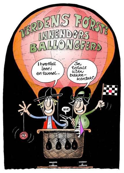 Bilde av Øystein Dolmen - Ballongferd inkl. ramme