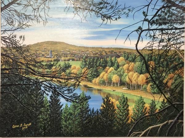 Bilde av Oline Bergebakken Sundt - Høstglimt av staa