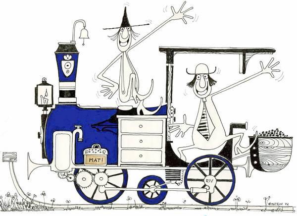 Bilde av Øystein Dolmen - Hallo på lokomotivet inkl. ramme