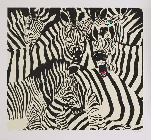 Bilde av Aija Vinkelmane - Zebras m/ramme og artglass