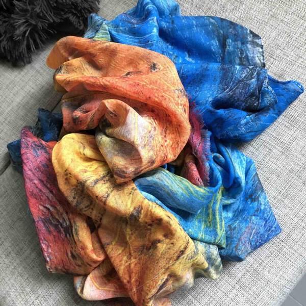Bilde av Kunstskjerf - Colors of life