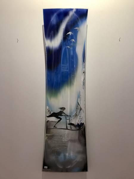Bilde av Åshild Karevoll - Glassfat Spark, blå