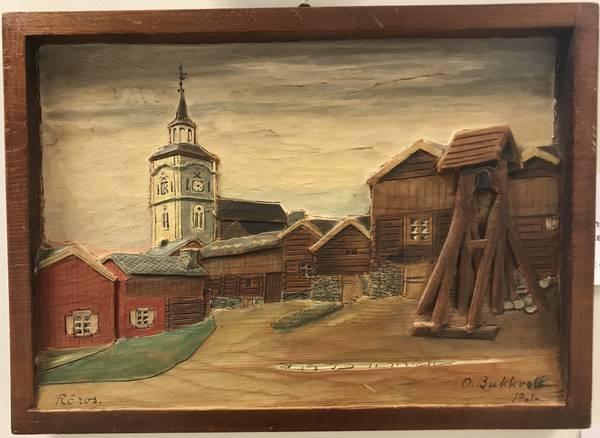 Bilde av Bukkvoll , Rørosmotiv 32 x 23 cm