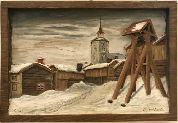 Bilde av Bukkvoll, Rørosmotiv - snø