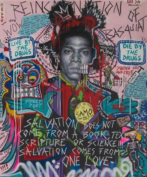 Bilde av Bjørge Rødfjell - Reincarnation of Basquiat