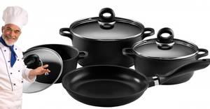 Bilde av 7 delers grytesett Fra Its Cookware