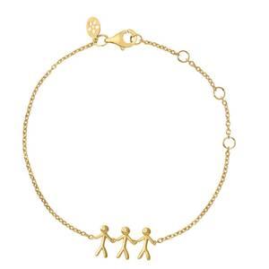 Bilde av byBiehl Together Family 3 Bracelet Gold