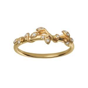 Bilde av byBiehl Jungle ivy ring stones gold -