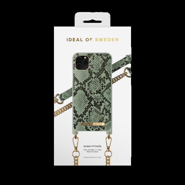 Phone Necklace Case iPhone 11 Pro Max/XS Max Khaki Python