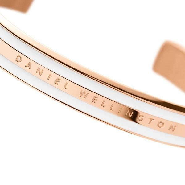 Bilde av Classic Bracelet Satin White Rose Gold Medium