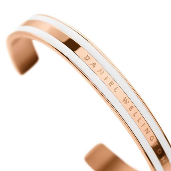 Bilde av Classic Bracelet Satin White Rose Gold Small
