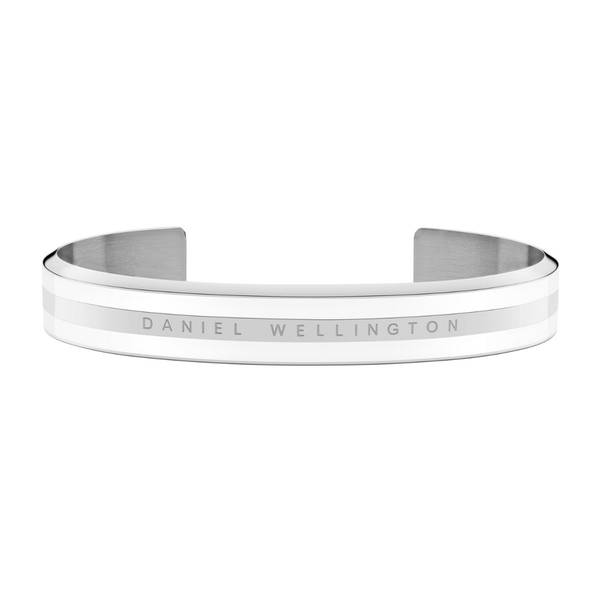 Bilde av Classic Bracelet Silver Satin White Medium