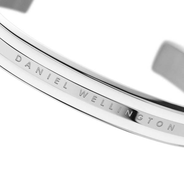 Bilde av Classic Bracelet Silver Satin White Small