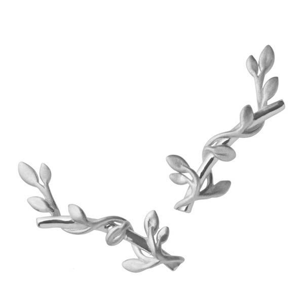 Bilde av byBiehl Jungle ivy stik earring sølv