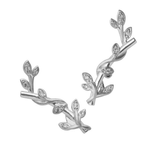 Bilde av byBiehl Jungle ivy stik stones - silver