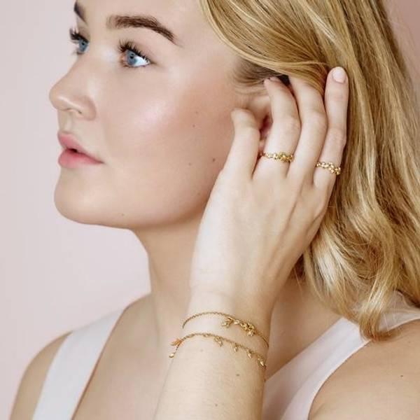 Bilde av byBiehl Jungle Vine bracelet Sparkle - Gold