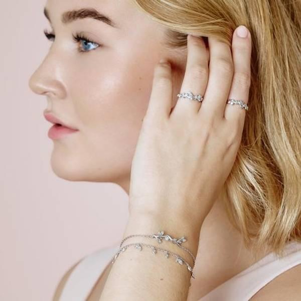 Bilde av byBiehl Jungle Vine bracelet Sparkle - Silver
