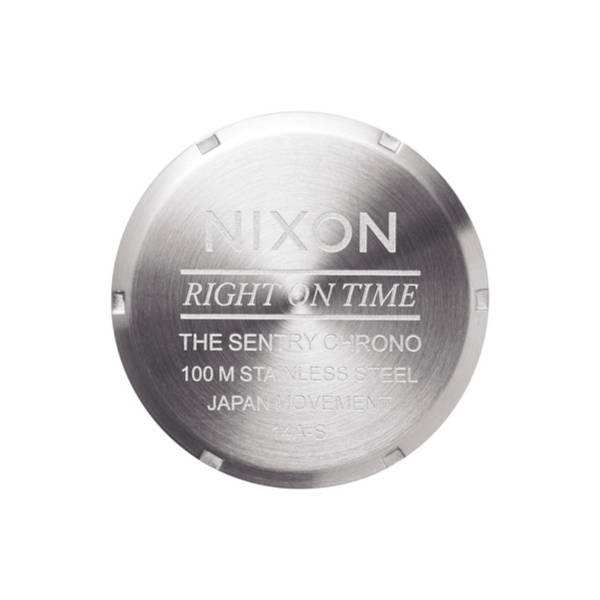 Bilde av Nixon Sentry Chrono leather Blue Sunray