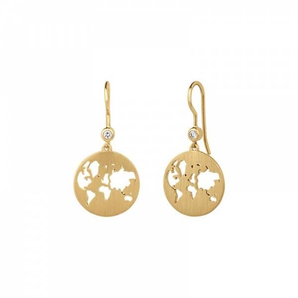 Bilde av byBiehl Beautiful World Earrings Gold