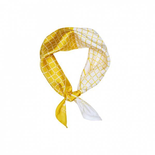 Bilde av Hermine HoldIsabella Duo Silk Scarf Yellow/White
