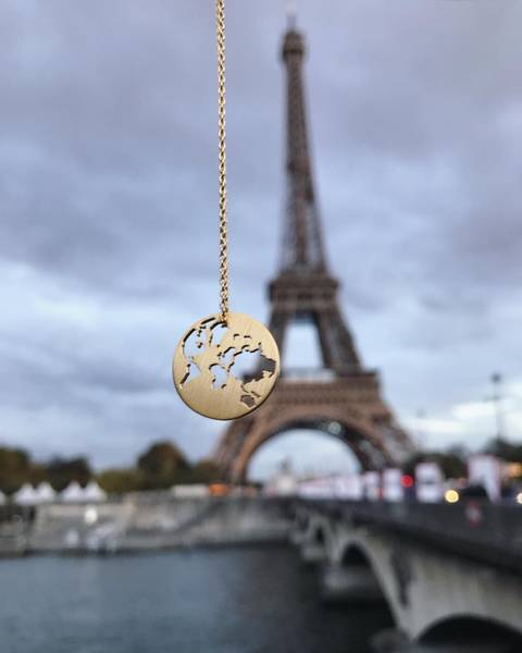 Bilde av byBiehl Beautiful World Halskjede gold 45 cm