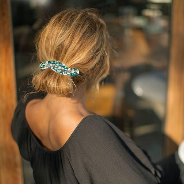 Bilde av Hermine HoldSolid Hair Barette Green/White