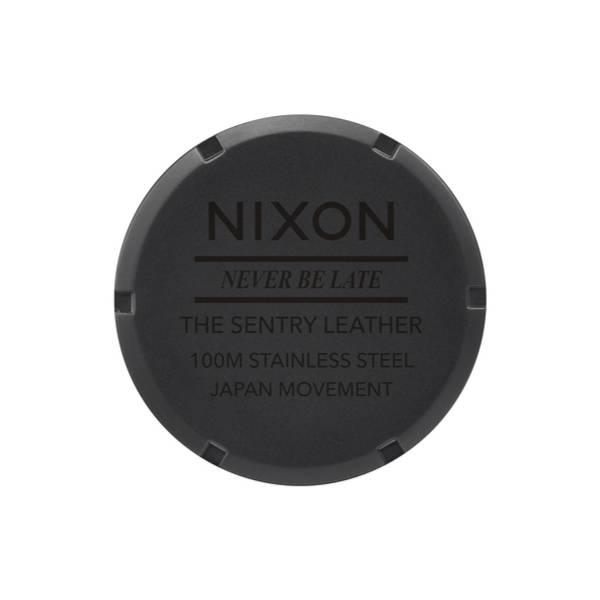 Bilde av Nixon Sentry Leather Matte black gold